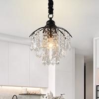 American Crystal Chandelier Corridor porch Cloakroom Creative Balcony Small chandelier Restaurant Study Bedroom E27