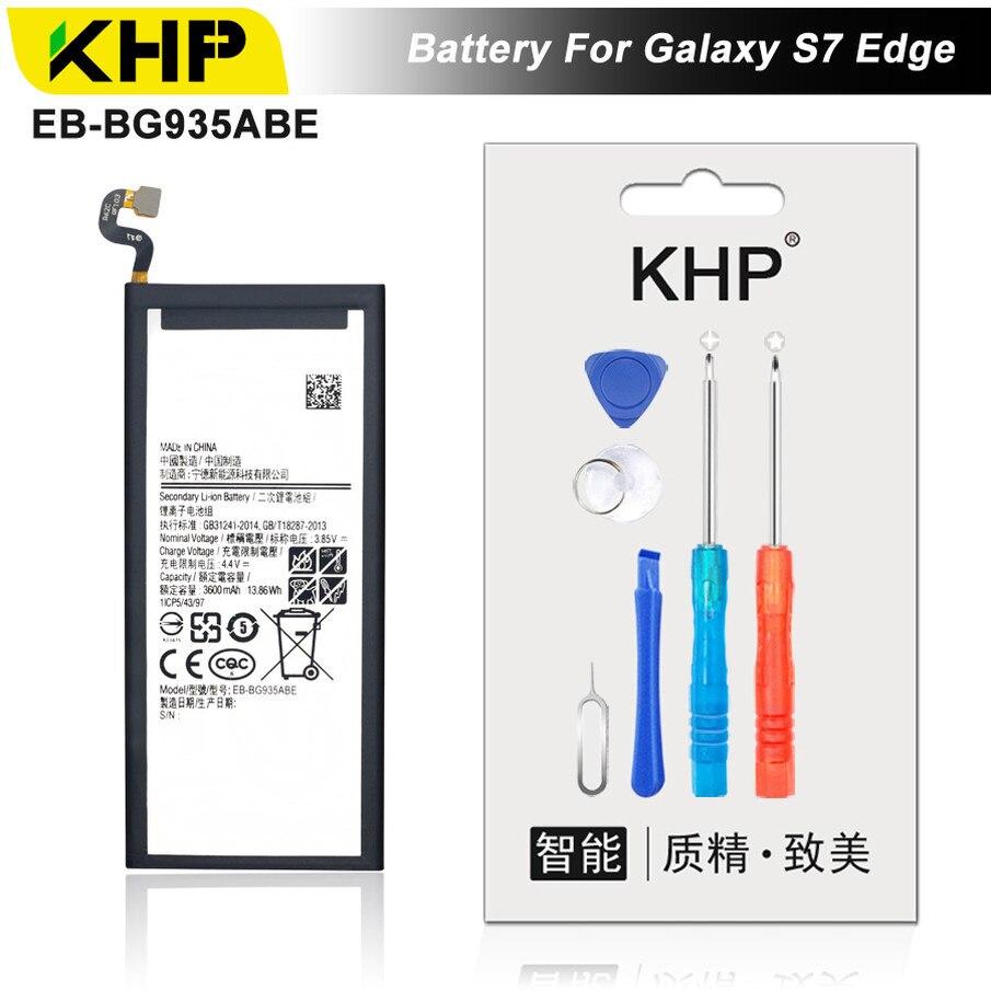 KHP 2018 D'origine KHP Téléphone Batterie Pour Samsung Galaxy S7 Bord G935F G9350 Batterie EB-BG930ABE Remplacement Mobile Batterie
