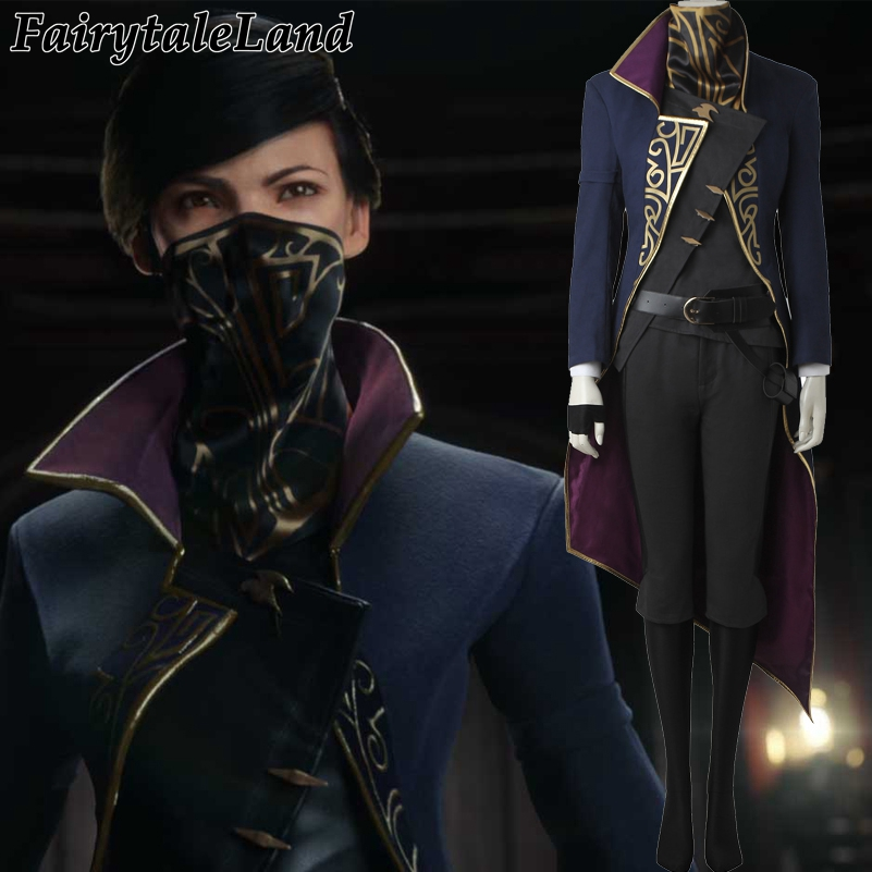 Dishonored 2 Emily Kaldwin Cosplay Costume /& Mask mp003513