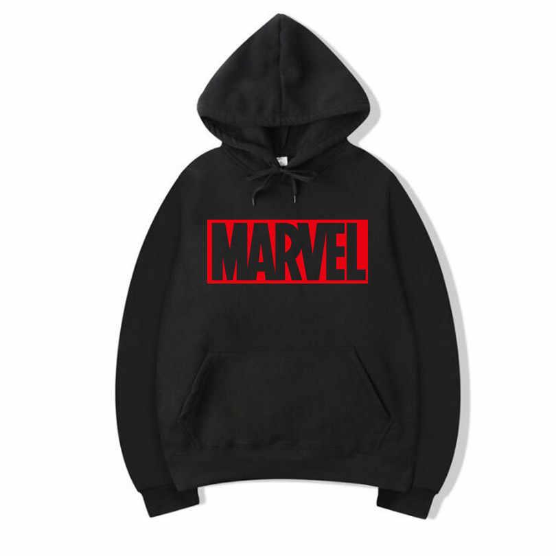 Baru Merek Marvel Hoodies Pria Kualitas Tinggi Lengan Panjang Kasual  Remembrance Pria Sweatshirt Hoodie Marvel Cetak e272363229