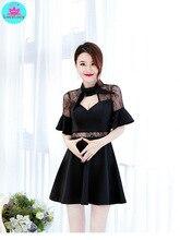 2019 nightclub sexy deep v self-cultivation a temperament bar low-cut backless lady small dress