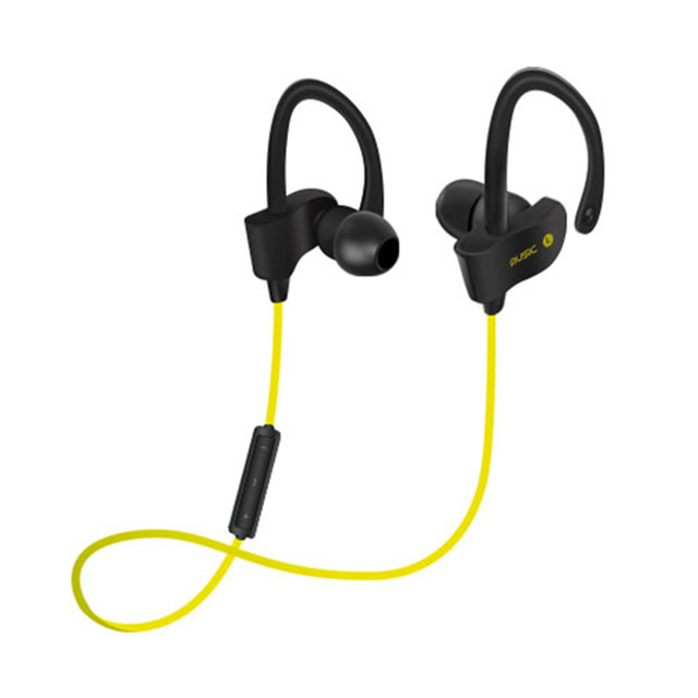 Bluetooth V4.1 Earphones Anti-sweat Support 2 Devices Connection Noice Cancelling Microphone Headset Ear Hook