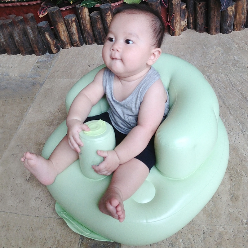 Baby Inflatable Sofa Baby Multifunctional Chair Children's Dining Chair Portable pvc baby sofa inflatable kids training seat bath dining chair
