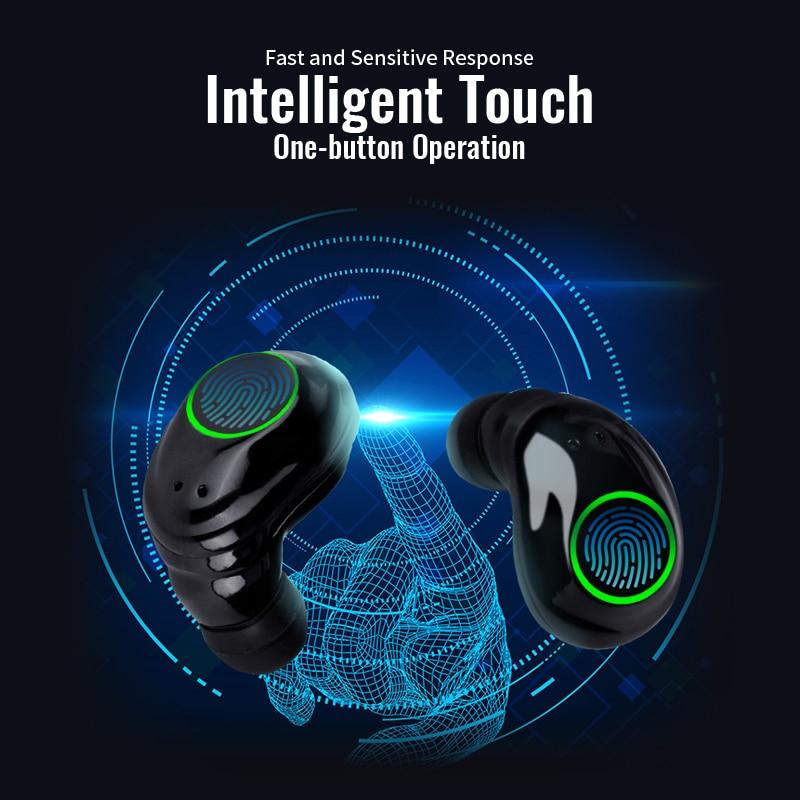 TOP Quality light TWS bluetooth 5 0 headset mini wireless headphones with mic sport running earphone