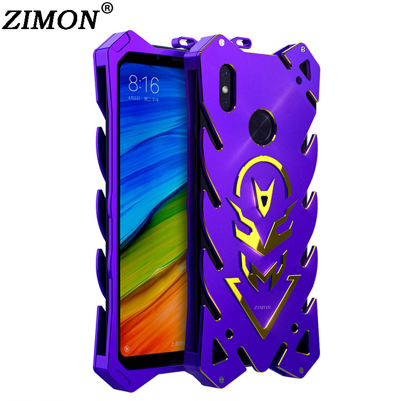 Global for Xiaomi Redmi Note 5 Case Redmi Note 5 Pro Shell Metal Body Cover ZIMON Quality Aluminum Back Cover Mobile Phone Cases