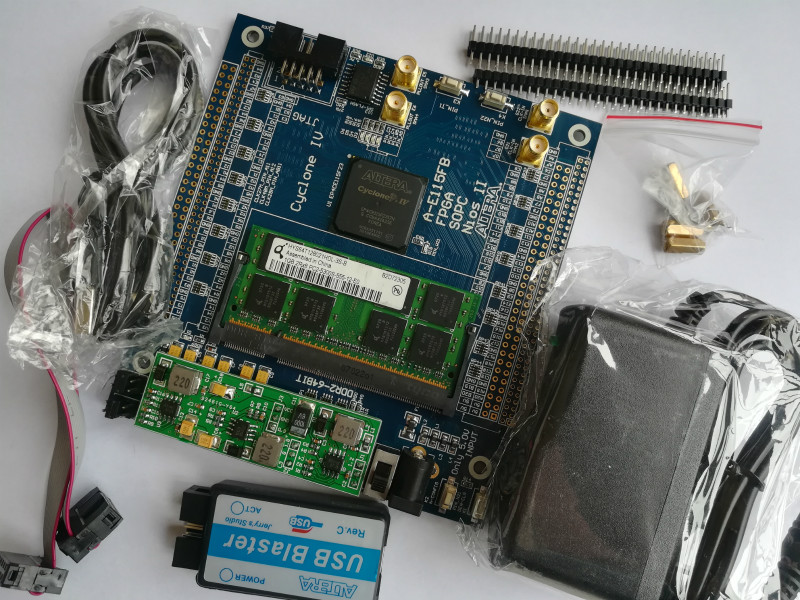 EP4CE115 DDR2 64BIT + USB Blaster + ALTERA ciclone IV FPGA Desenvolvimento Bordo placa de desenvolvimento fpga altera placa placa eda asic