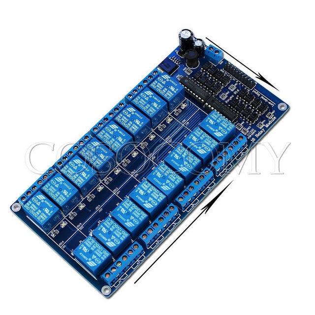 16 Canais Módulo de Relé 12 V Opto-casal para UNO MEGA2560 R3 Raspberry Pi 8051 AVR PIC, DSP BRAÇO, BRAÇO