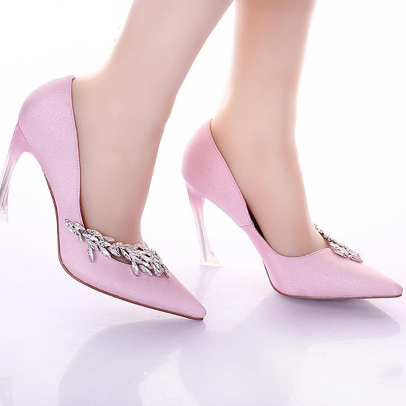 Pointu Noce Mode Chaussures Banquet blanc Satin À Robe Étrange Talon Rose Pompes Mariée rouge Bout Bal Talons Femmes Hauts De Rose ppwq1rT5