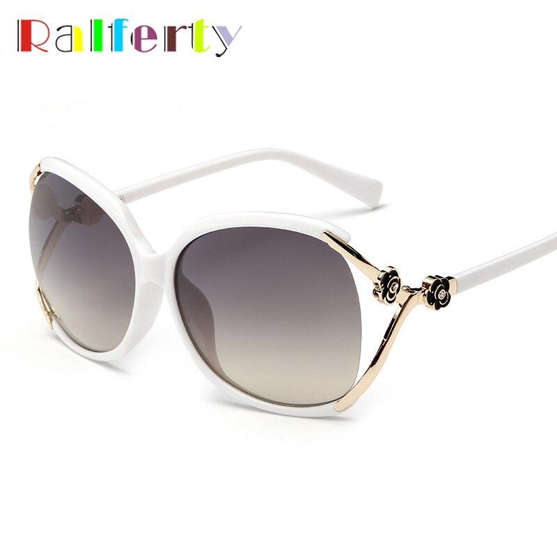 0b39a5beba Ralfery Vintage gafas de sol mujer marca diseñador Cateye Sunglass mujer  Retro Eyewear sombras UV400 oculos gafas de sol feminino