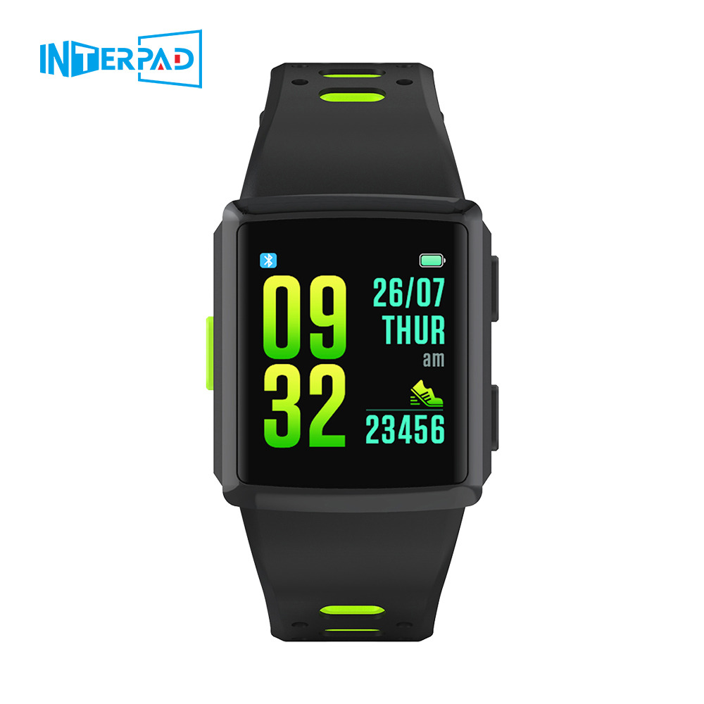 Interpad M3 GPS montre intelligente hommes Multi sport fréquence cardiaque Tracker Smartwatch 1.3 pouces écran tactile montre-bracelet pour iOS Android