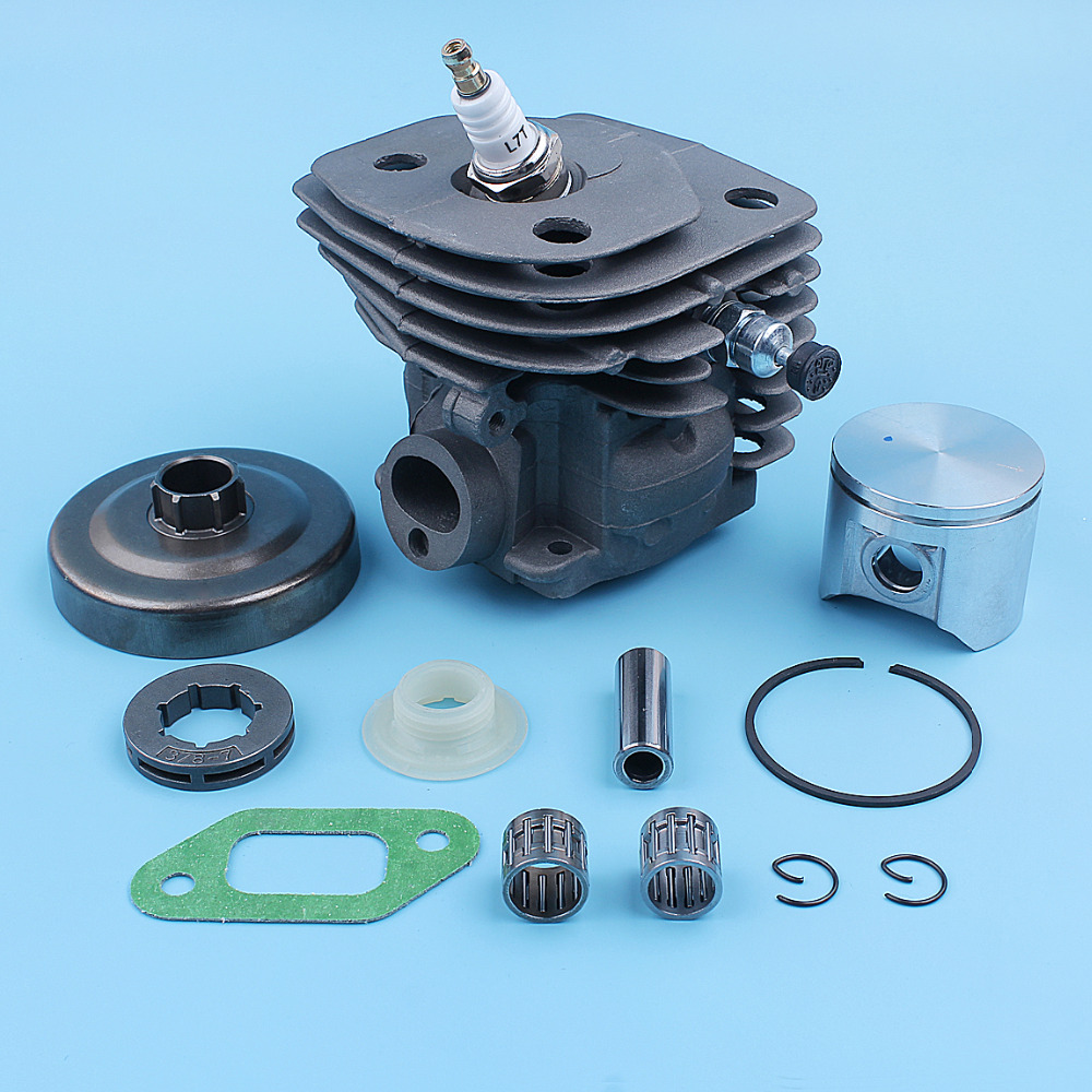 3 Kit Big For 357XP Drum Worm Chainsaw Clutch Replacement Bearing Husqvarna 8 357 47mm Gear Part 359 Bore Cylinder Rim Sprocket