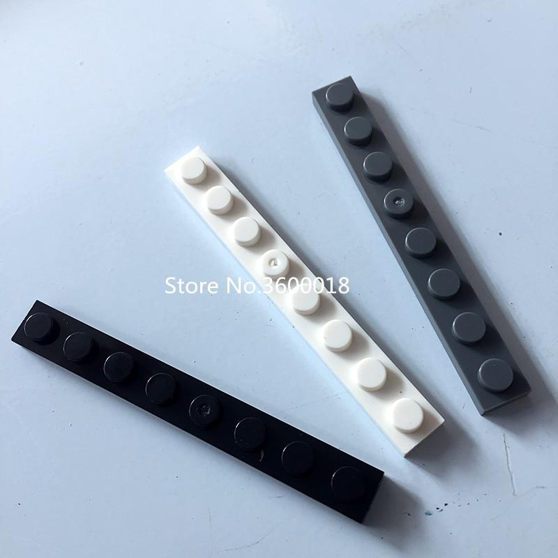 30pcs/lot Compatible With Legos 3460 3D 1x8 MOC Brick DIY Block Assemble Particles Blocks Toys Bricks Parts Set