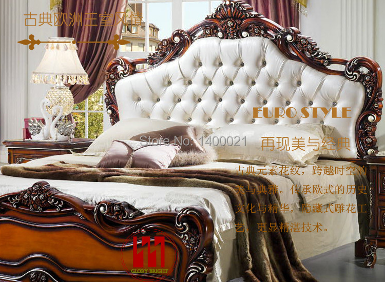 Merveilleux Elegant Carving Wood Bed ,hot Sale Classical European Style King Size Bed  Design In Beds From Furniture On Aliexpress.com | Alibaba Group