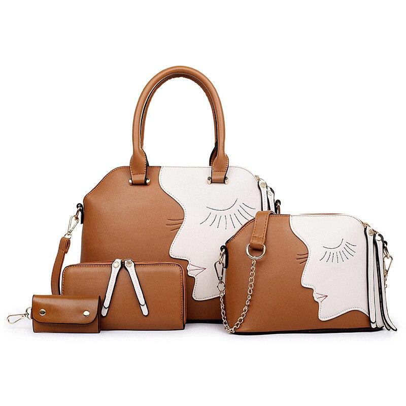 Sacs à main et sacs à main en cuir de marque célèbre sacs à bandoulière pour femmes portefeuille sac à clés 4 sac ensemble bolsa feminina 2019
