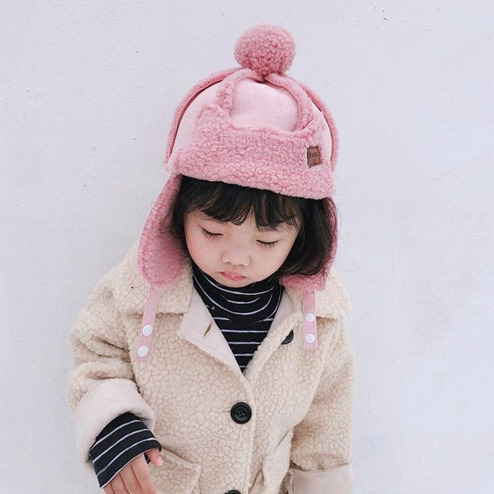 1 Pcs Earflap Hüte Verdicken Kappe Winter Warme Fleece Kappen Für Kleinkinder Baby Mädchen Und Jungen Verkaufspreis