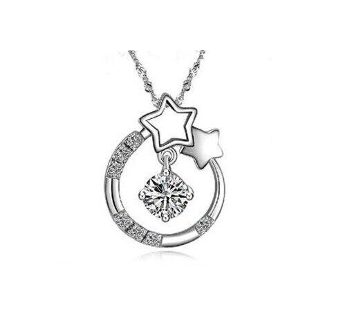 N-009 diseño collar de perlas swz perlas con 925 Sterling plata dispositivo de cierre