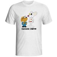 Śmieszne Niebezpieczeństwo Myszy T Shirt Rodziny Mężczyźni Anime Koszulka Anime styl Fasion Fajne Śmieszne Tee Kreskówki Lato Miękkie Man Chłopców koszule