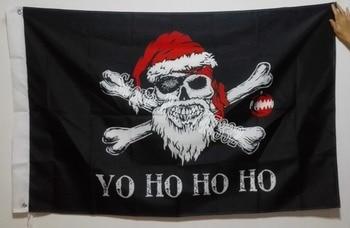 Bandera pirata personalizada Jolly Roger, Bandera de Navidad, productos en oferta, 3X5FT 150X90CM, Banner, agujeros de metal de latón