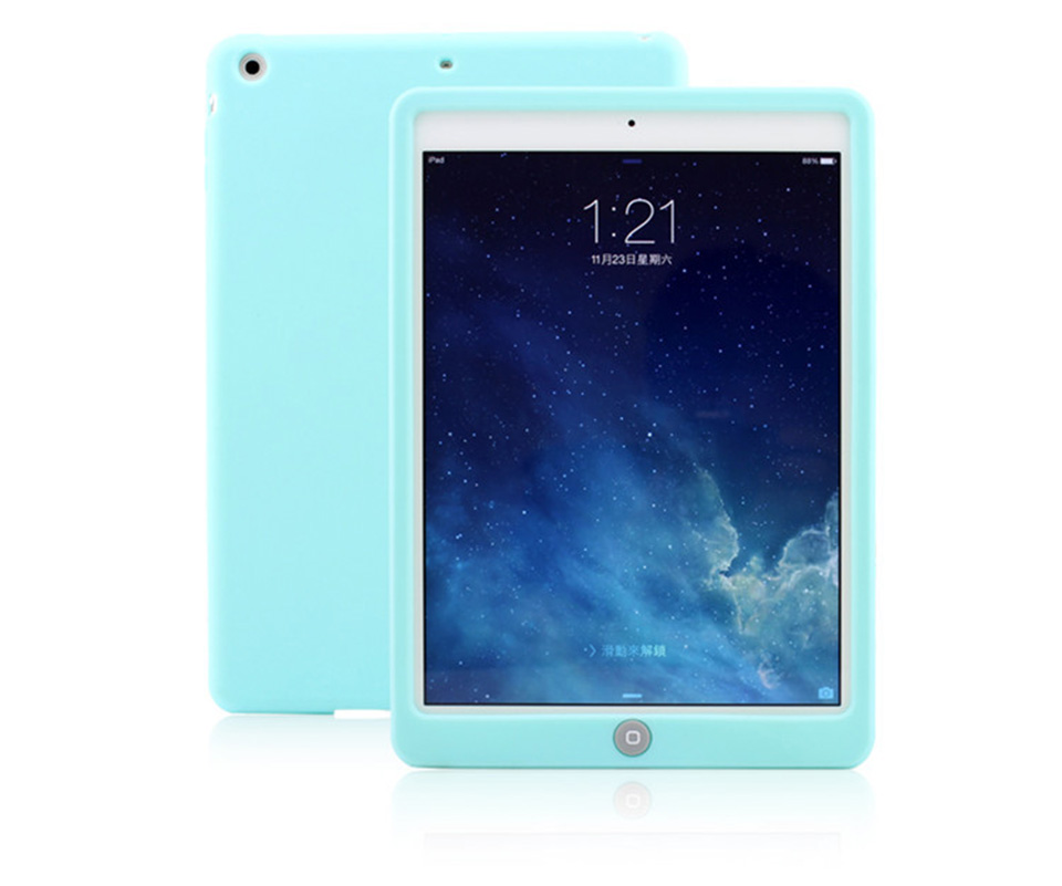 Para ipad 6 Jelly Bean Cute Smart Funda protectora de goma de - Accesorios para tablets