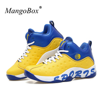 Shoes Men Basketball Yellow Basketball Shoes Kids Leather Woman Basketball Sneakers Anti Slip High Top Sneakers