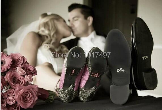 1 набір I DO і ME TOO Очистити стразами прикраса, весілля наклейки, весільні взуття наклейки - весільні прикраси щось блакитне