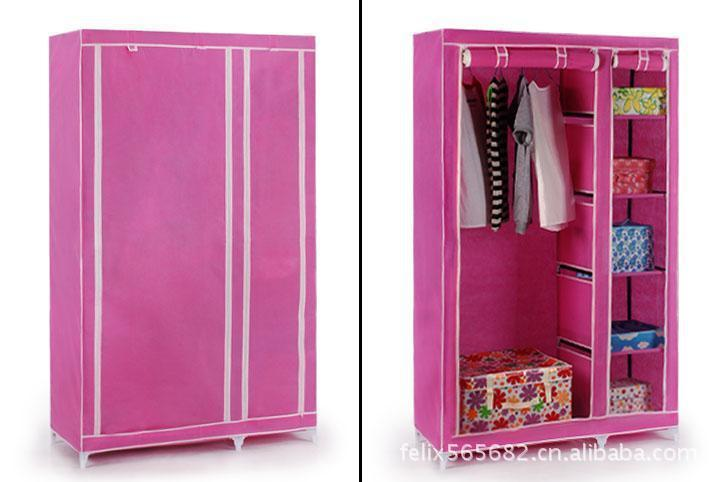 House Scenery Bedroom Simple Steel Frame Folding Cabinet Portable Wardrobe  Hanging Fabric Wardrobe Closet Clothes Storage Locker In Wardrobes From  Furniture ...