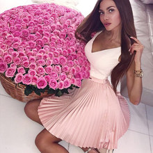 Bbonlinedress  Pink Homecoming Dress 2019 Short V Neck Prom Appliqued Beading Cocktail Mini Pleated Formal Party