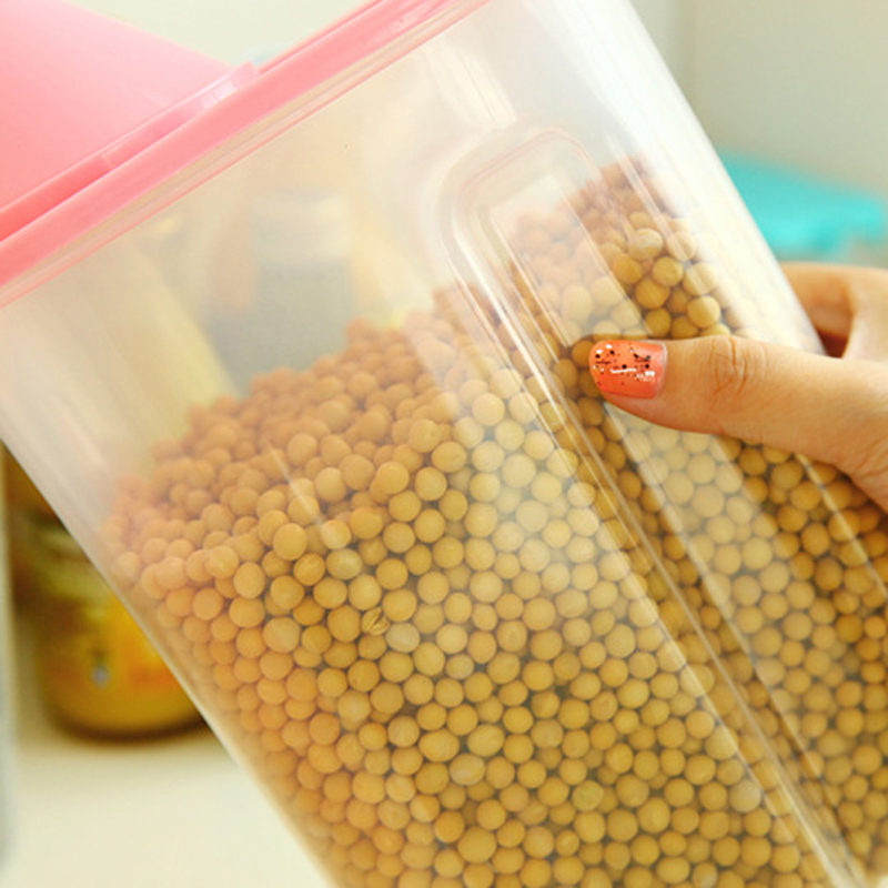 Hot Sale 2 5l Plastic Kitchen Food Pasta Cereal Grain Bean Rice