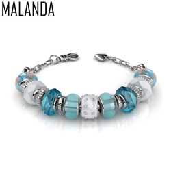 MALANDA Brand Fashion Original Crystal From Swarovski Charm Bracelets Bangles For Women Luxury Wedding Jewelry Christmas Gift