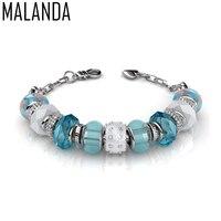 MALANDA Brand Fashion Original Crystal From Swarovski Charm Bracelets Bangles For Women Luxury Wedding Jewelry Christmas