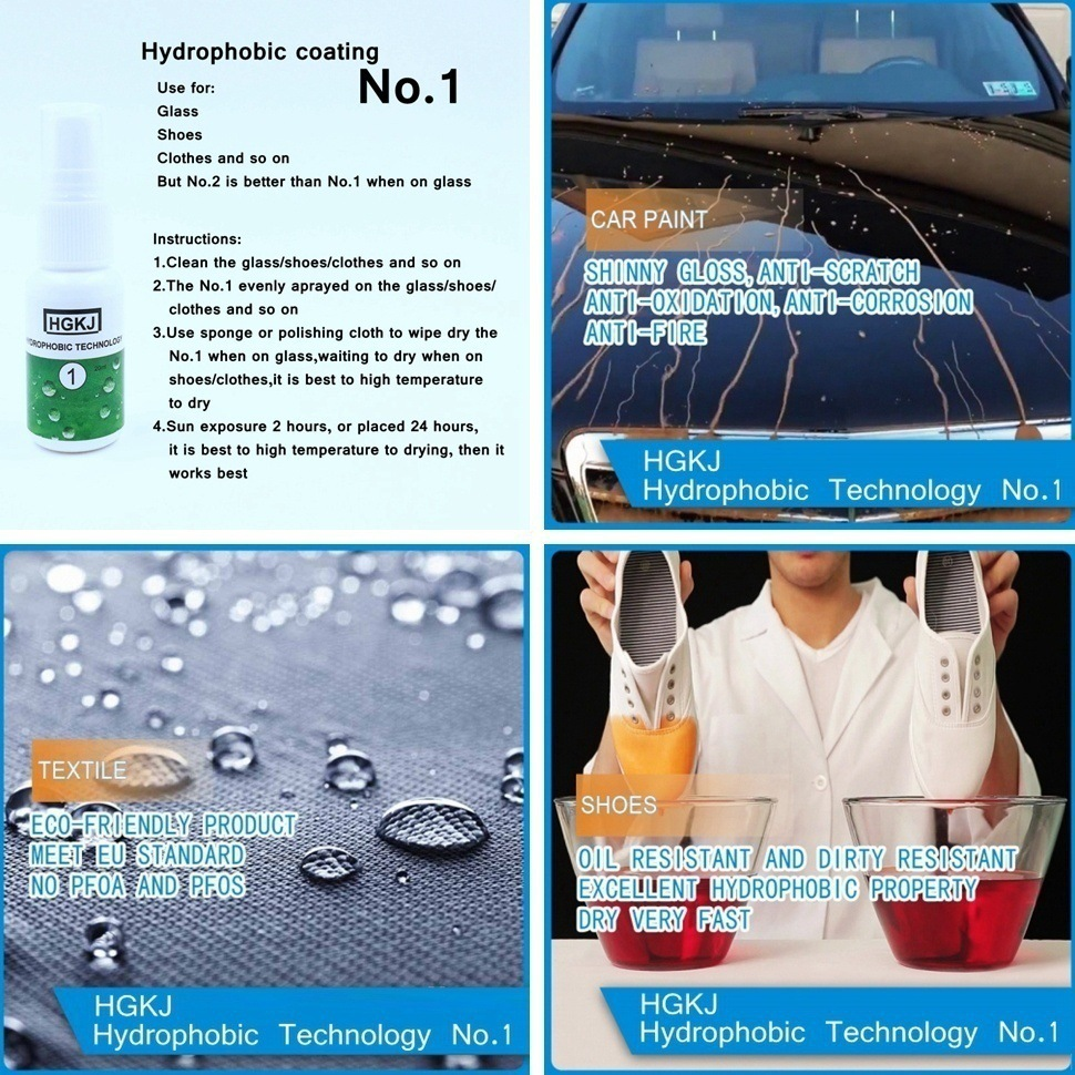 1PCS Liquid Glass Nano Hydrophobic Ceramic Coating For Window Glass Fabric cloth shoes Waterproof Agent spray 20ml