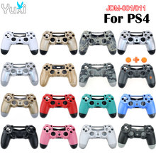 YuXi Kunststoff Gehäuse Shell für Sony Playstation 4 PS4 JDM 001 JDM 011 Wireless Controller Ersatz Fall Abdeckung