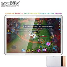 NewPad 10.1 pulgadas Android 7.0 Octa Core 4G Lte Tablet 1920*1200 IPS 2 GB/32 GB 2MP + 5MP GSM WCDMA Dual SIM GPS Bluetooth Tablet PC