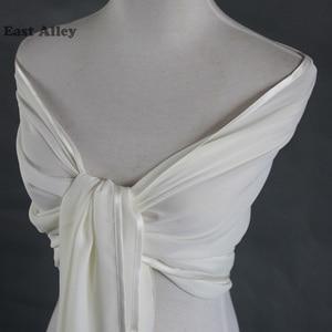 Image 4 - אביזרי חתונה הכלה שיפון דקה גלימת משיכת הכתפיים גלישת צעיף גנב צעיף כלה נשוי