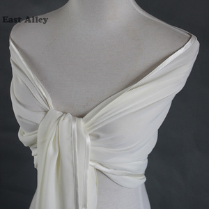 Image 4 - Bride Chiffon Wedding Accessories Shrug Wrap Shawl Married Scarf Bridal Stole Thin Cape