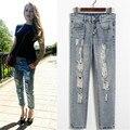 Fashion Summer Style Women Jeans Ripped Holes Harem Pants Jeans Slim Vintage boyfriend Jeans For Women