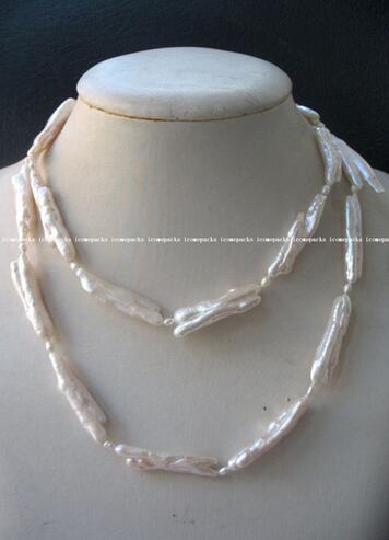 Vente en gros 30-40mm perle d'eau douce Beva Reborn collier blanc 35