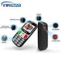 YINGTAI Big Screen/push button Virtual Keyboard bar Cell phones better than Nokia senior mobie phone 1000mAh 2.4 for elderly FM