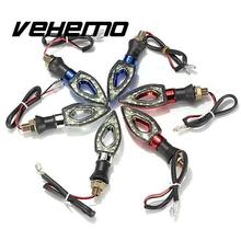Vehemo 2pcs Universal 12 LED Turn Signal Light Flasher Rhombus Motorcycle Motorbike For bmw e46 ford focus 2 3 mazda 3 cx5 audi