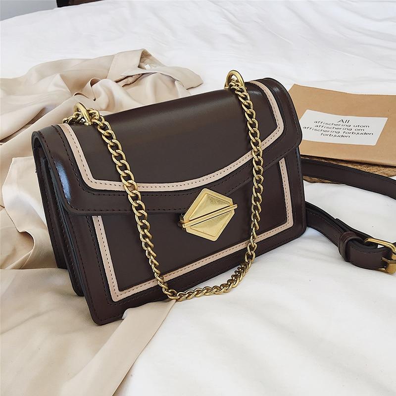 488ec227fc0d Square lock V Panelled Chain women shoulder bag 2019 new leather handbags  channels Solid luxury designer