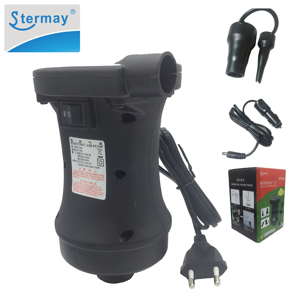 Electric Air Pump  Mains /& Car Adapter For Airbeds And Other Large Inflatables