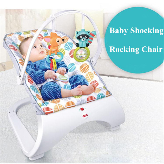 rocking chair kids wood childrens table and chairs health safety multi function shock automatic vibration baby puzzle leisure bouncers