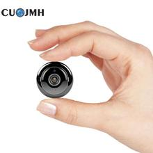 Mini Wireless Wifi Camera Home Security Protection 180 Degree Smart Mini Surveillance Camera Black Night Vision Camera