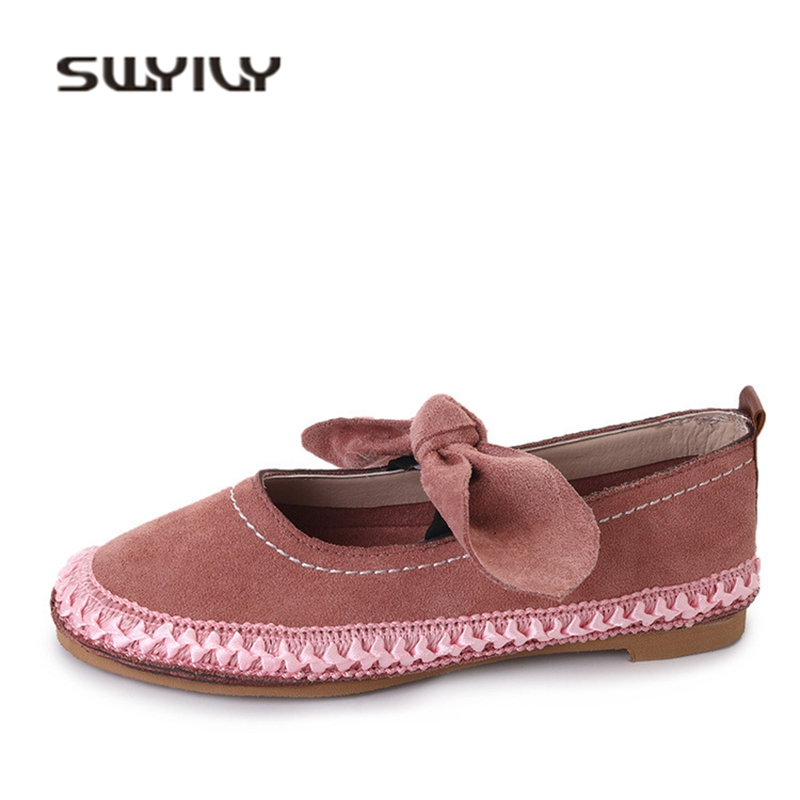 SWYIVY Flat Sneakers Shoes Woman Bow Retro Solid Color Woman Casual Shoes Slip On Lazy Flats Embroidery Breathable Woman Sneaker swyivy women sneakers light weight 2018 41 woman casual shoes slip on lazy shoes comfortable candy color breathable net shoe