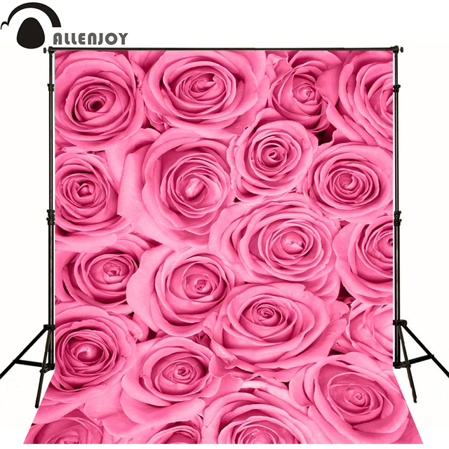 Allenjoy photographic background romantic flowers pink roses newborn allenjoy photographic background romantic flowers pink roses newborn lovely pink flower backgrounds baby shower custom mightylinksfo
