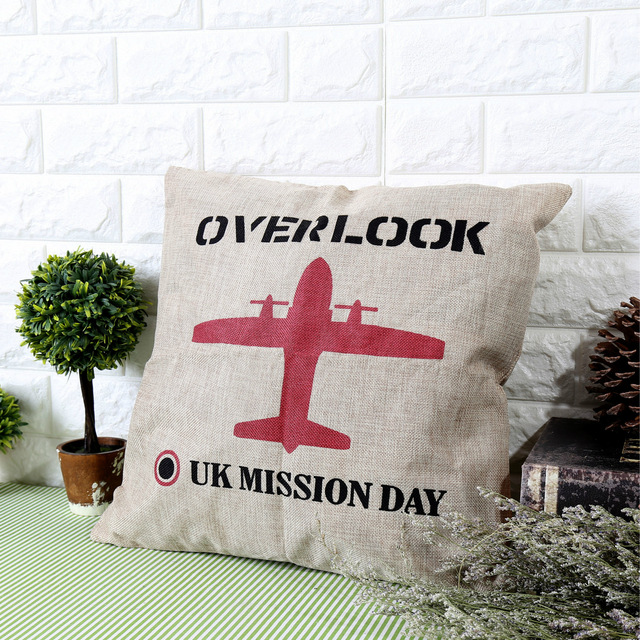 Decorative Pillows Zakka Cotton Cloth Airplane Pattern Throw Pillow Beauteous Airplane Decorative Pillow