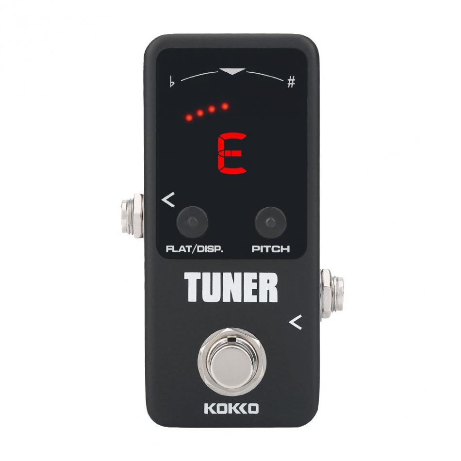mini guitar tuner pedal tuning toner pitch effect pedal for electric guitar instruments. Black Bedroom Furniture Sets. Home Design Ideas