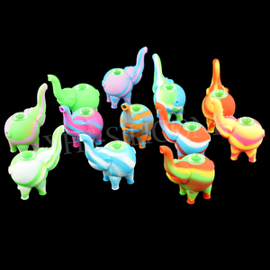 Новые силиконовые табачные трубы в форме слона силиконовые курительные трубы против стеклянных водопроводных труб стеклянные курительные трубы