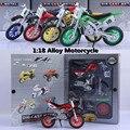 Modelo 1:18 motocicleta, montar cajas de regalo modelo montado coche de juguete, niños regalos preferidos, envío gratis