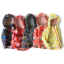 Baby Girls Jacket Spring Tao 2021 Modis Coat Water Resistant Windproof Kids Hooded Coat Outerwear Children Rain Windbreaker